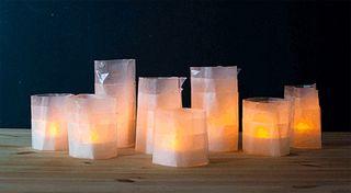 Waxpapercandleholders