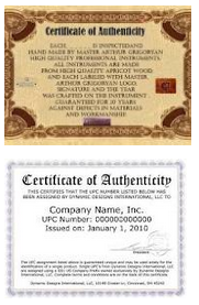 certificate authenticity for artwork